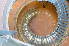 Architectural background of a spiral staircase Royalty Free Stock Photography
