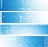 Architectural banners. Vector. Abstract vector illustration in blue color Royalty Free Stock Images