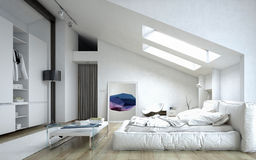 Architectural Bedroom Inside White House Stock Photos