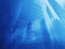 Architectural blue Stock Image