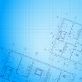 Architectural blue background. Royalty Free Stock Image