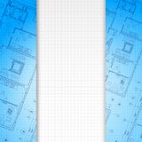 Architectural blue background. Royalty Free Stock Images