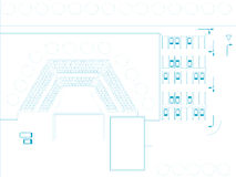 Architectural blue prints Stock Photography