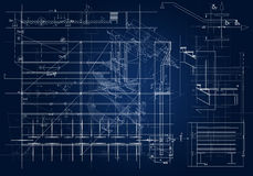 Architectural blueprint. Frontal architectural blueprint. illustration background Royalty Free Illustration