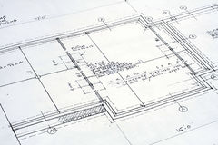 Architectural Blueprint. This is an image of an architectural blueprint for a home renovation royalty free stock image