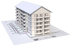 Architectural blueprint Stock Image