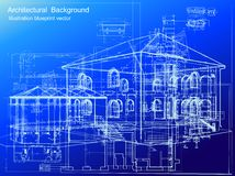 Architectural blueprint background. Vector Stock Image