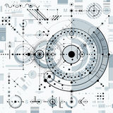Architectural blueprint,  digital background with differen Stock Photography