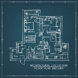 Architectural Blueprint Floor Plan Royalty Free Stock Photography