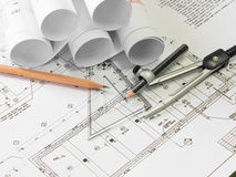 Architectural blueprint Royalty Free Stock Photo