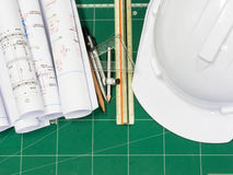 Architectural blueprint Stock Photography
