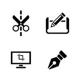 Architectural blueprint. Simple Related Vector Icons Royalty Free Stock Images