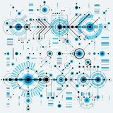 Architectural blueprint, vector digital background with differen Royalty Free Stock Photos