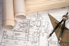 Architectural Blueprints Stock Photos