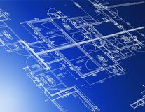 architectural blueprints Stock Images