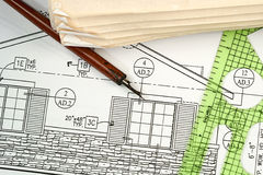 Architectural Blueprints Stock Photography