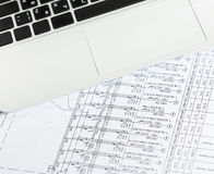 Architectural blueprints Royalty Free Stock Image