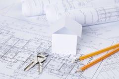 Architectural blueprints Stock Images