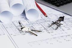 Architectural blueprints Stock Image