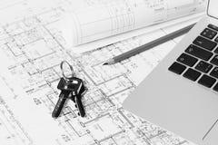 Architectural blueprints Stock Photos