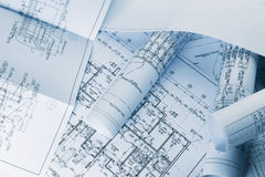 Architectural blueprints Royalty Free Stock Photo