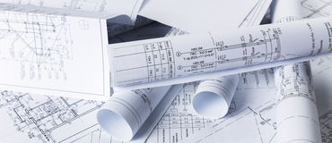 Architectural blueprints Royalty Free Stock Photos