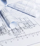 Architectural blueprints Royalty Free Stock Images