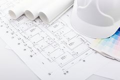 Planning of construction of the house. Royalty Free Stock Image