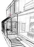 Architectural sketch drawing Royalty Free Stock Images