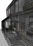 Architectural sketch drawing Stock Images