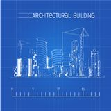 Architectural building blueprint Royalty Free Stock Images
