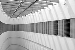 Architectural building interior. A view in a modern shopping complex Royalty Free Stock Photo