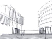 Architectural building plan vector. Vector of two architectural buildings and stairs