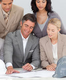Architectural business team working in the office Stock Images