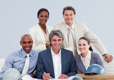 Architectural business team working together Royalty Free Stock Photography