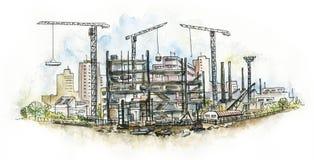 Architectural. Chantier de construction. Images libres de droits