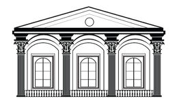 Architectural Classic House facade with Corinthian columns Stock Photography