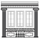 Architectural Classic House facade with Corinthian columns Royalty Free Stock Photo