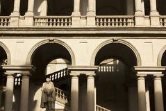 Architectural close up of Accademia di Brera Stock Photography