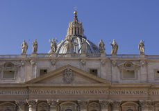 Architectural close up of the roof of Saint Peter Basilica Stock Photos
