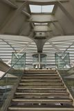 Architectural close up of the stairs to Oriente Station Royalty Free Stock Images