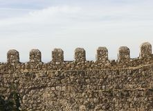 Architectural close up of the walls of Moors Castle Royalty Free Stock Photos