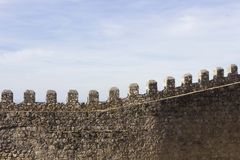 Architectural close up of the walls of Moors Castle Royalty Free Stock Images