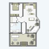 Architectural Color Floor Plan Royalty Free Stock Photos