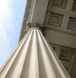Architectural Column. An intricate column of the Customs House in Charleston, South Carolina royalty free stock photos