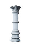 Architectural column in classical style isolated on white background Stock Photography