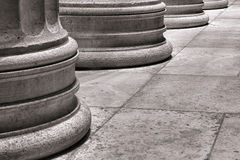 Architectural Column Pedestal on Marble Slab Floor Stock Images