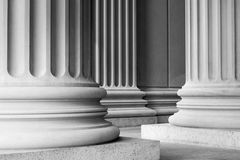 Architectural Columns. In black and white stock images