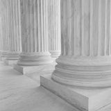 Architectural Columns. In black and white royalty free stock photo