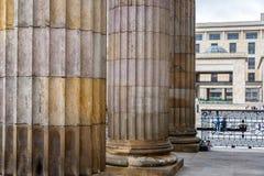 Architectural Columns in Bogota Stock Image